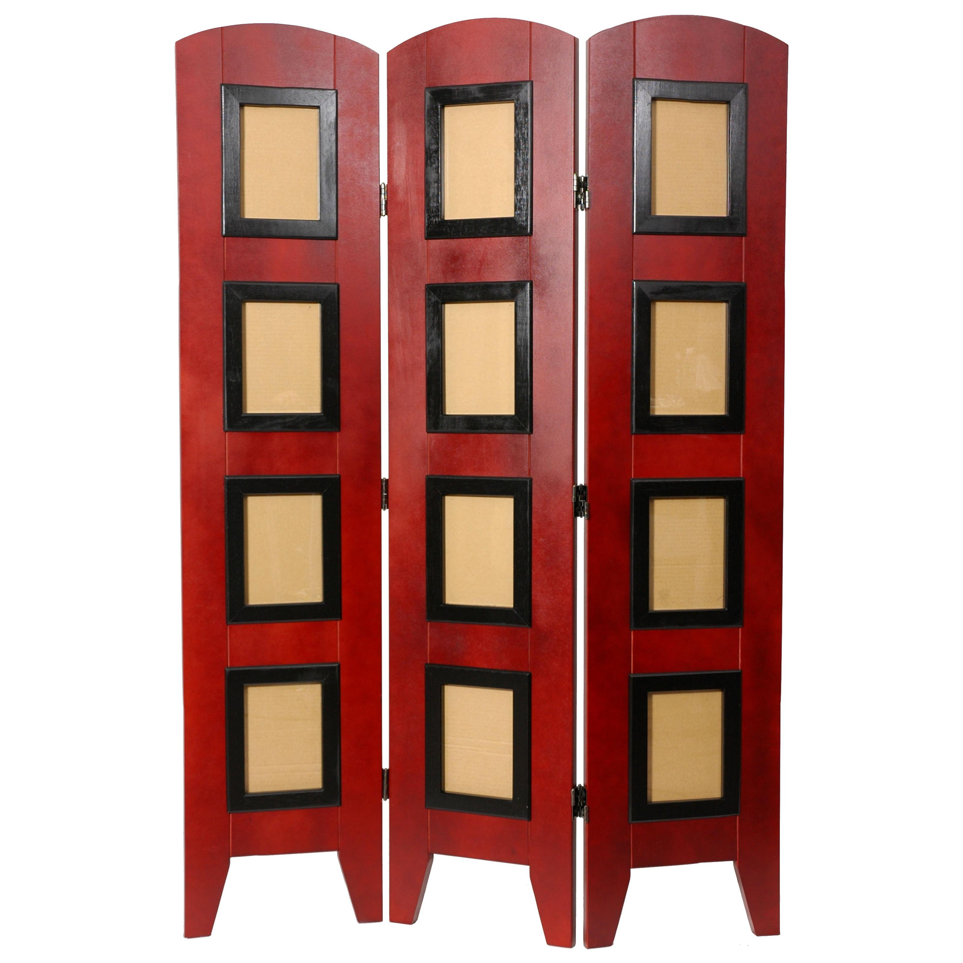 Oriental Furniture Low Photo Shoji Screen Room Divider