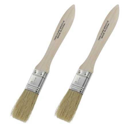 Long Hardwood Handle - Ram-Pro Classic Natural Pure Bristles Bristle Pastry Brushes, Wood Handle Lacquered Hardwood Long Pure Basting glazing Brush Easy to Clean, Great for Butter Boar Bristles Brush (Set of 2)