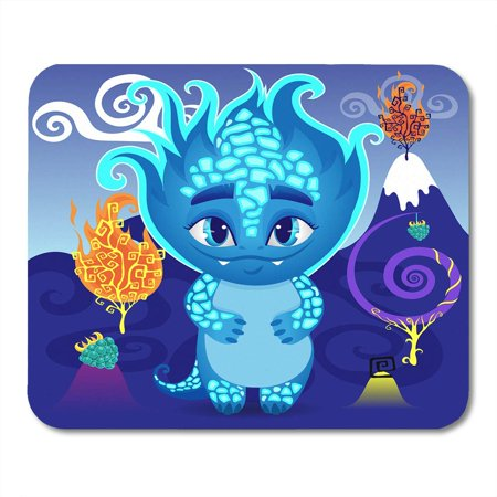 SIDONKU Little Dragon Monster in Magic World Wonderland Fire Tree Unusual Berries Cartoon Character Mousepad Mouse Pad Mouse Mat 9x10 inch (Dragon Belly)