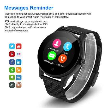 Excelvan K88H Smart Watch Pedometer Heart Rate Monitor Bluetooth Call/SMS