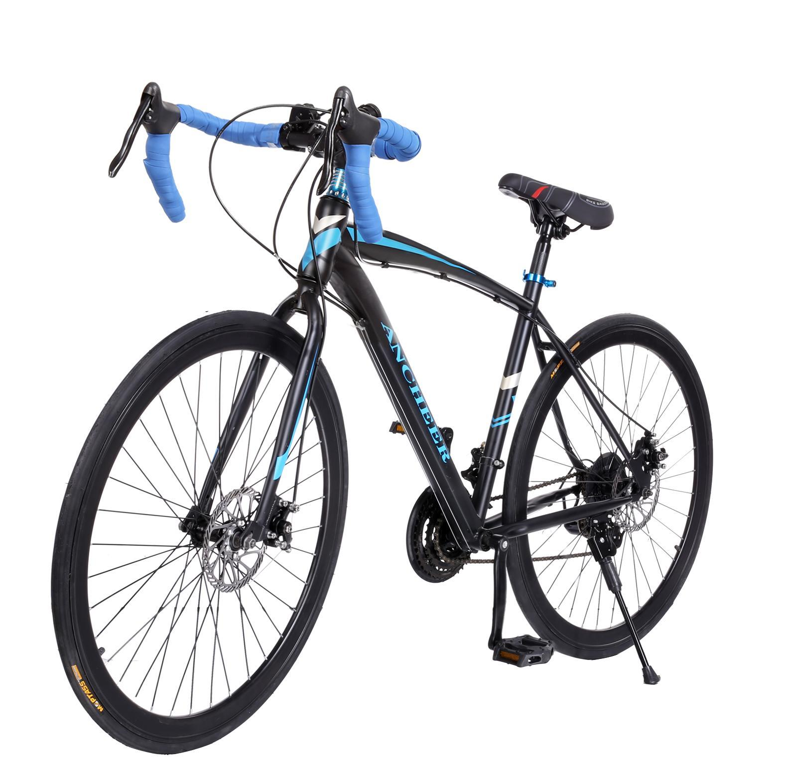 "21 Speed Road Bike 26"" Men Racing Commuter Bicycle Aluminum Alloy Frame 700c"