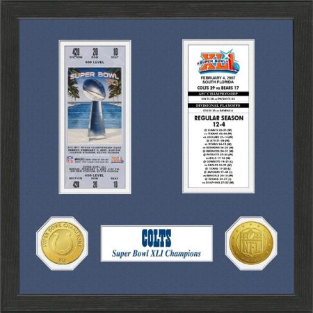 Nfl Framed Wall Art By The Highland Mint  Indianapolis Colts   Super Bowl Championship Ticket