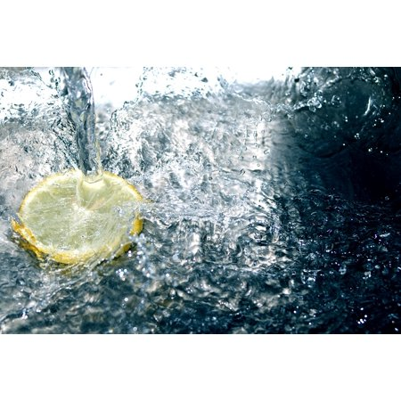 LAMINATED POSTER A Splash Of Water Babble Yellow Clear Lemon White Poster Print 24 x -