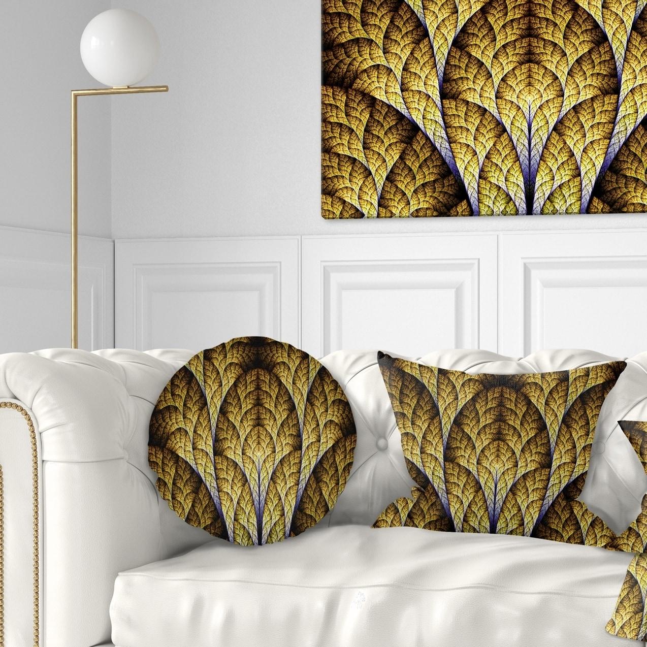 X 26 In Designart Cu12112 26 26 Unique Orange Fractal Design Pattern Abstract Cushion Cover For