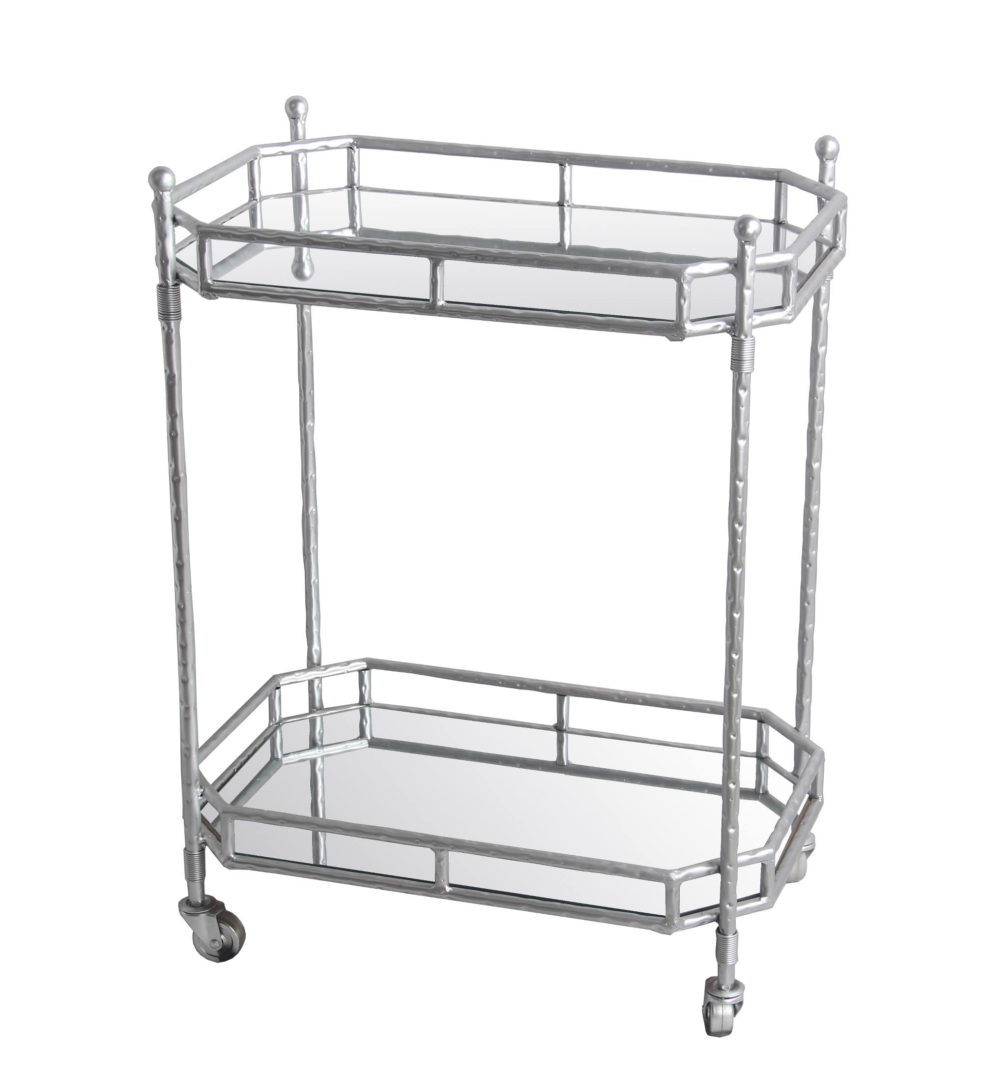 Silver Metal Bar Cart