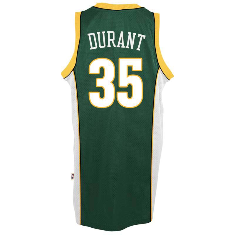 Kevin Durant Seattle SuperSonics Adidas Soul Swingman Jersey (Green)