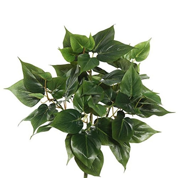 """Vickerman 20"""" Artificial Green Philo Bush Featuring 6 Branches with 66 Leaves - image 1 of 1"""