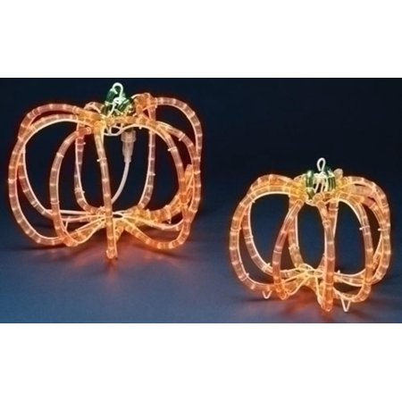 Set of 2 pre lit halloween rope lighted 3 d outdoor pumpkin set of 2 pre lit halloween rope lighted 3 d outdoor pumpkin decorations workwithnaturefo