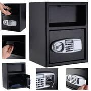 Costway Digital Safe Box Depository Drop Deposit Front Load Cash Vault Lock Home Jewelry
