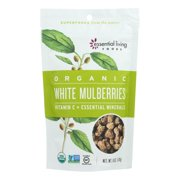 Essential Living Foods Organic White Mulberries - Case of 6 - 6 OZ