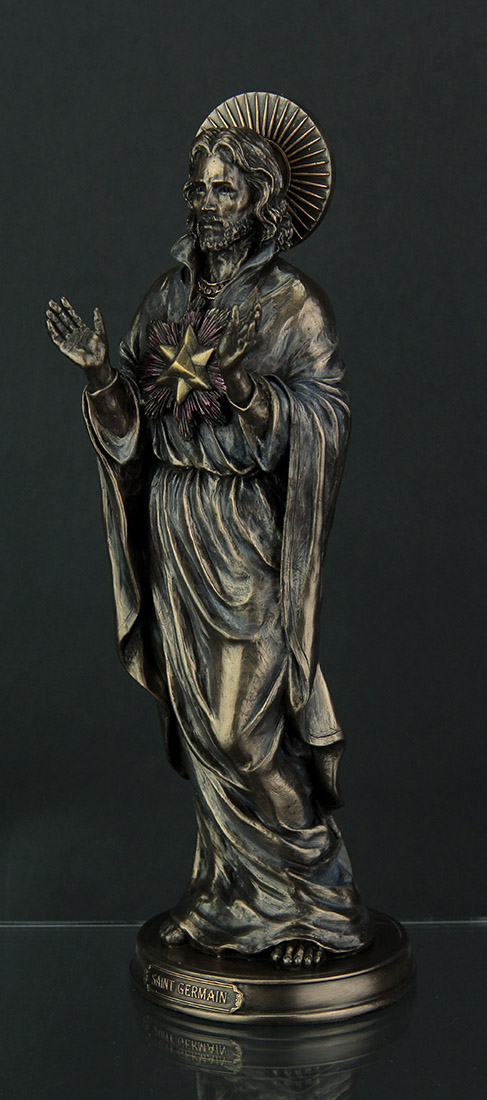 Saint Germain Ascended Master Theosophical Bronze Finish Statue