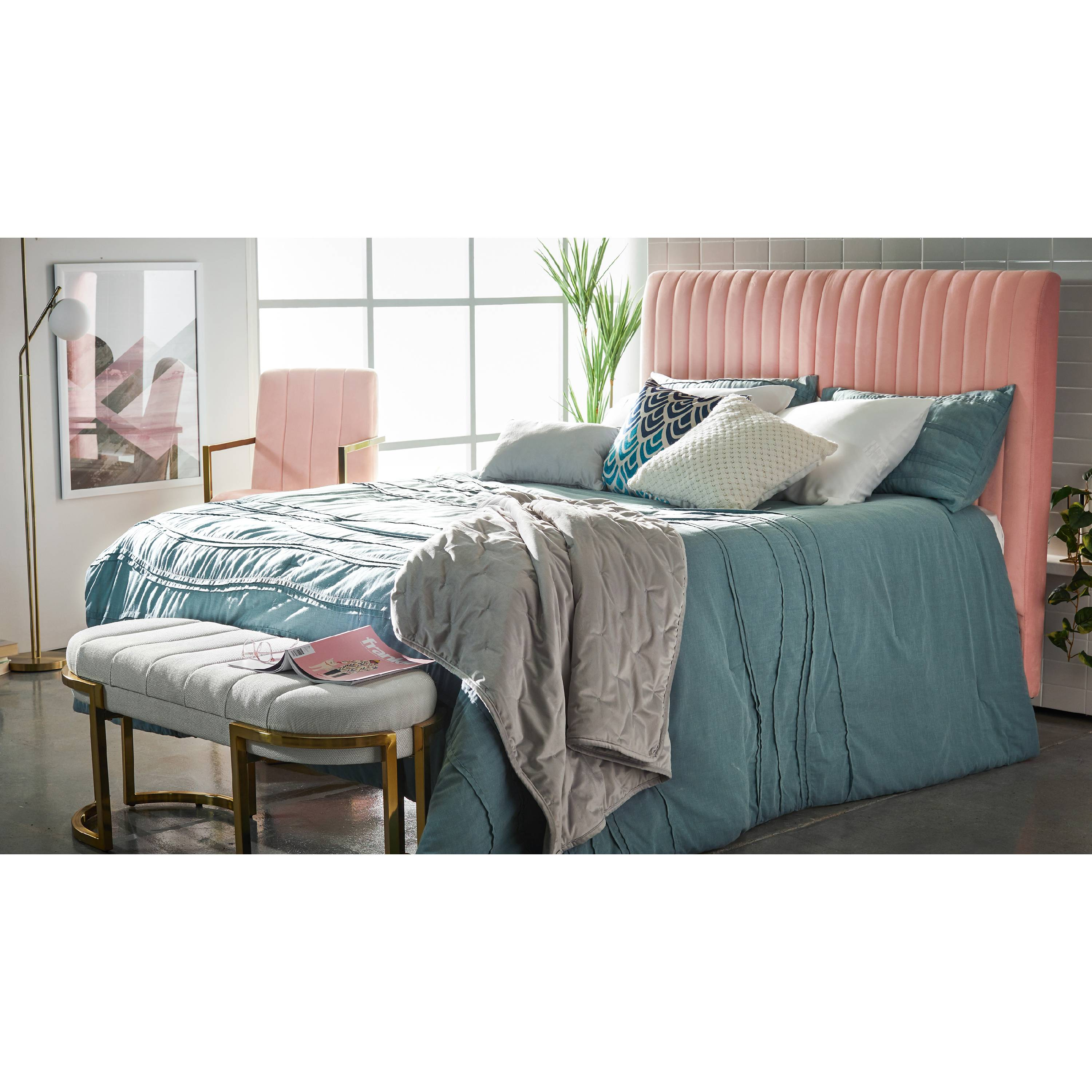 MoDRN Glam 5 Piece Voile Wave Comforter Set