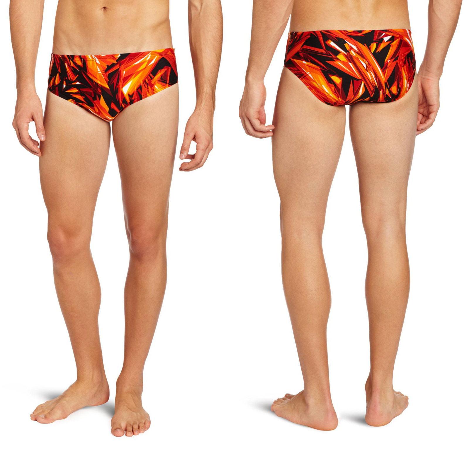 Speedo Men's Lycra Vortex Splice Race Swimsuit Trunk Briefs 8051302