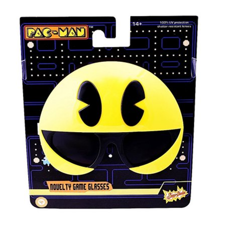 Yellow Pac Man Officially Licensed Sun-Staches Video Game Nintendo Atari - Pacman Halloween