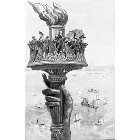 Torch of Statue of Liberty 1885 Poster Print by Science Source (Statue Of Liberty Torch)