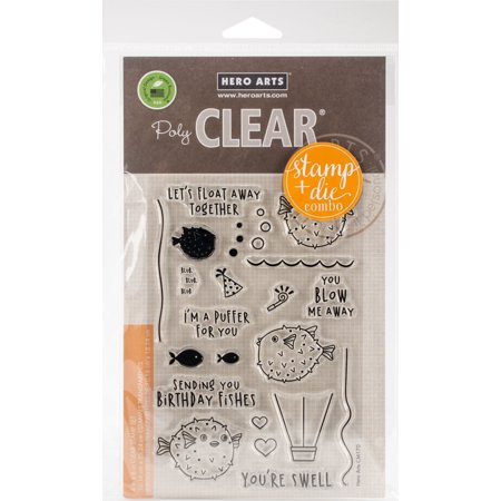 Hero Arts Clear Stamp & Die Combo-I'm A Puffer For You - Clear Stamps