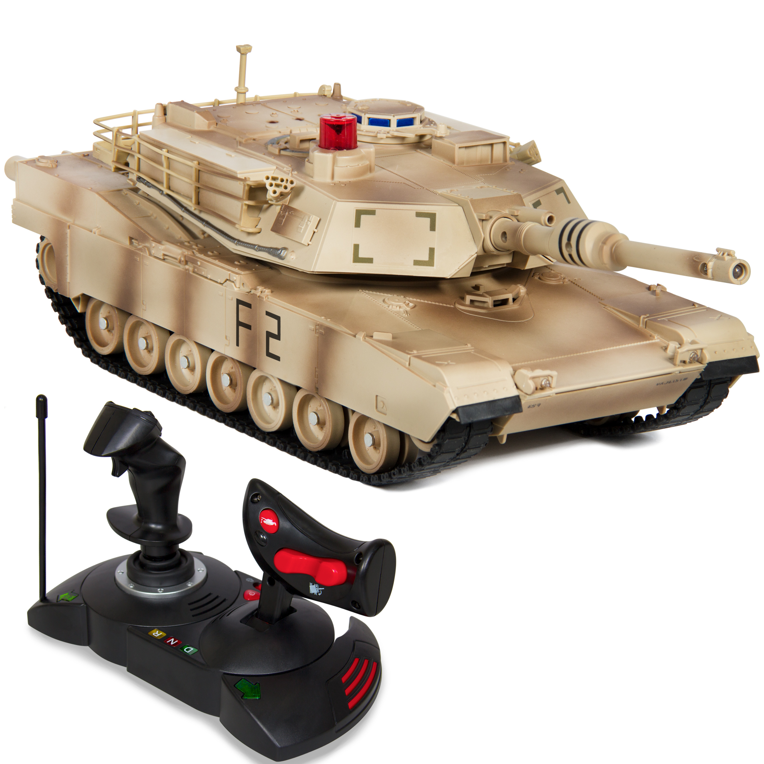 Best Choice Products 1/14 Scale RC Military Tank Gravity Sensor Radio Remote Control Car - Yellow Camouflage