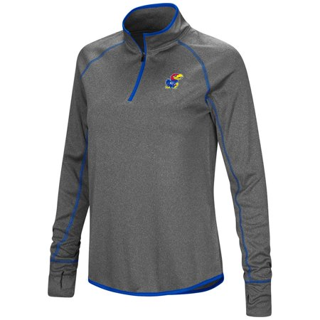 1988 Kansas Jayhawks Basketball - Womens Kansas Jayhawks Quarter Zip Wind Shirt - L