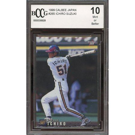 1999 Calbee Japan 265 Ichiro Suzuki Seattle Mariners Rookie Card Bgs Bccg 10