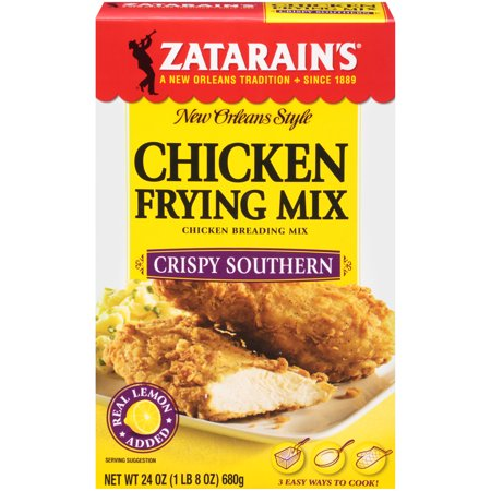 (2 Pack) Zatarain's Crispy Southern Chicken Frying Mix, 24 oz