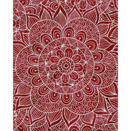 Bullet Journal Notebook Mandala Pattern 4: 172 Numbered Pages with 160 Dot  Grid Pages, 6 Index Pages and 2 Key Pages in Large 8 X 10 Size for