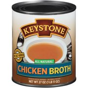 Keystone All Natural Chicken Broth 27 oz. Can