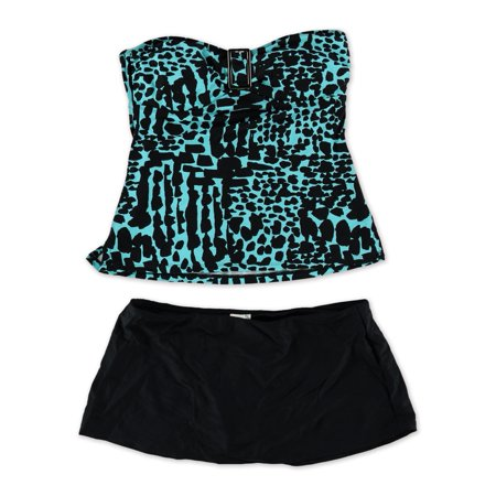 c106dc8828 Island Escape Womens Printed Skirtini 2 Piece Tankini - Walmart.com