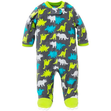 b3609380b Little Me - Little Me Dino Blanket Sleeper Warm Fleece Footie Footed ...