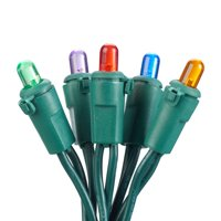 Holiday Time 108.5 ft, 250 Count Multicolor LED Mini String Christmas Lights, (Set of 2)