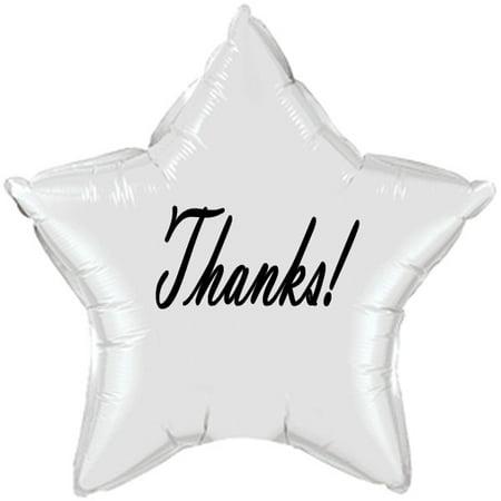 Partypro TQP-5041 Thank-You Classy Black Star Balloon](Thank You Balloon)