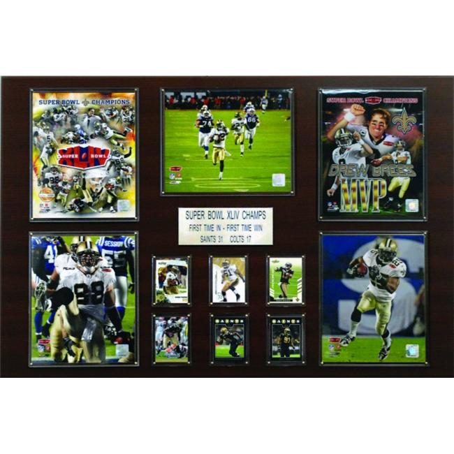 C & I Collectables 2436SAINTSSB44 NFL New Orleans Saints Super Bowl XLIV Champions Plaque