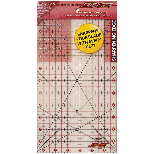 "Sullivans International The Cutting Edge Frosted Ruler, 6-1/2"" x 12-1/2"""