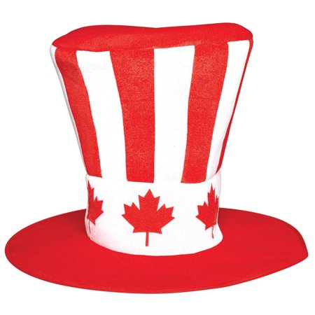 Canada Day Holiday Mens Adult Red White Costume Party Hat - Canada Custumes