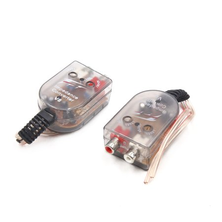 2Pcs High to Low Output to RCA Line Control Car Audio Impedance Converter (Audio Impedance Tester)