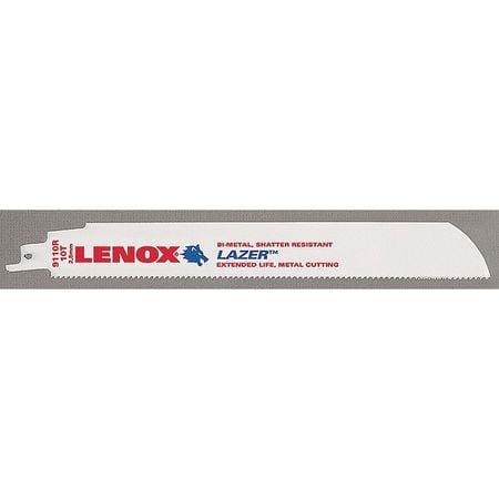 Lenox Lazer 9 in. Bi-Metal Reciprocating Saw Blade 10 TPI 5 pk