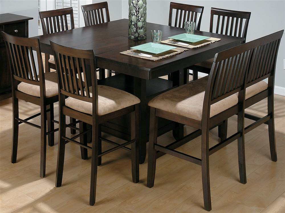 Counter Height Dining Table Set For 8, Tall Dining Room Chairs