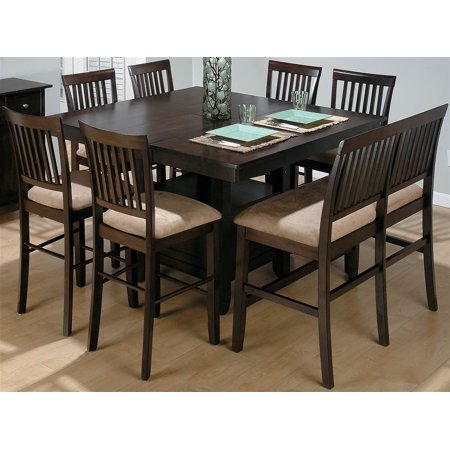 8 Pc Counter Height Expansion Dining Set With Bench