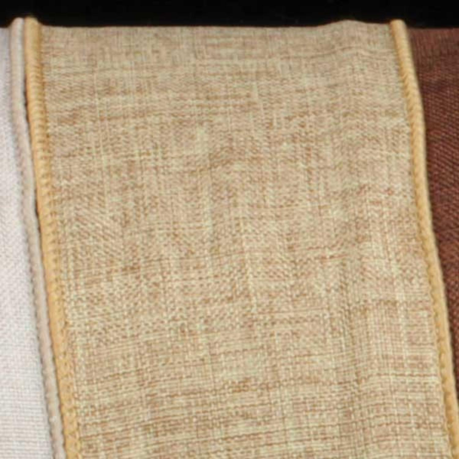 "Natural Tan Wired Fine Linen Burlap Craft Ribbon 1.5"" x 40 Yards"