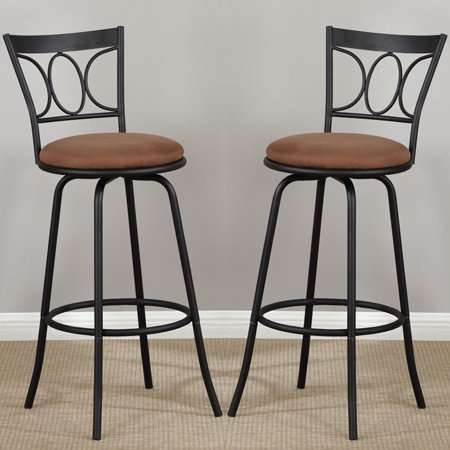 Prime 2 Pc Swivel Metal Bar Adjustable Height 24 Or 29 Counter Stools Patio Kitchen Machost Co Dining Chair Design Ideas Machostcouk