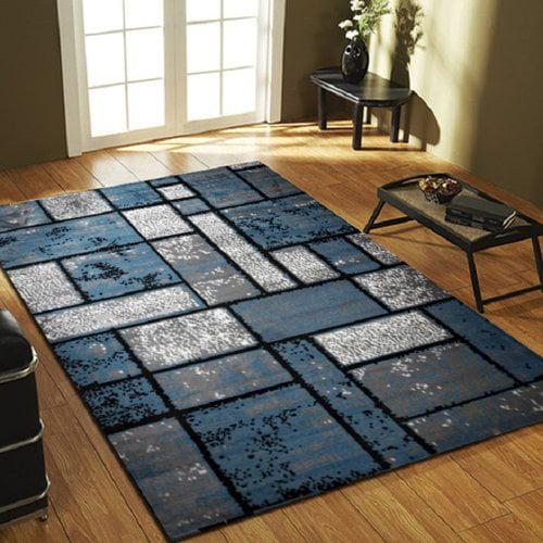Ebern Designs Apodaca Dusty Brick Light Blue/Gray Area Rug