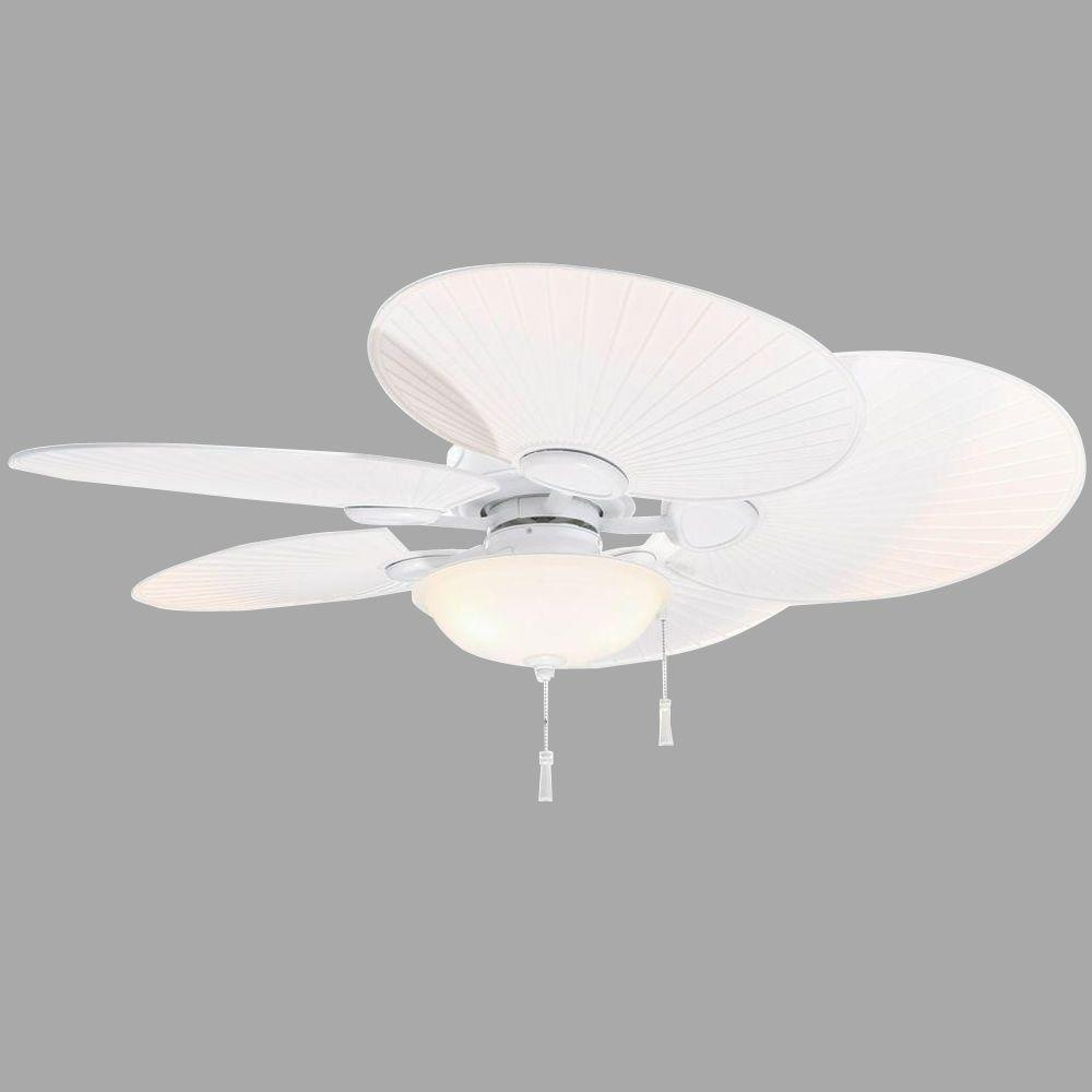 Hampton Bay Havana 48 Led Indoor Outdoor Matte White Ceiling Fan