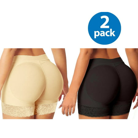 6bbd35fb20 MISS MOLY - Women s Seamless Shapewear Enhancing Butt Lifter Padded Body  Shapewear Firm Control 2 Pack - Walmart.com