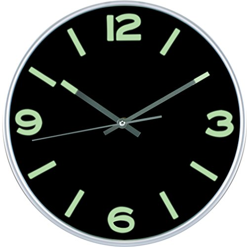 Large NonTicking Wall Clock Silent Modern Quartz Design