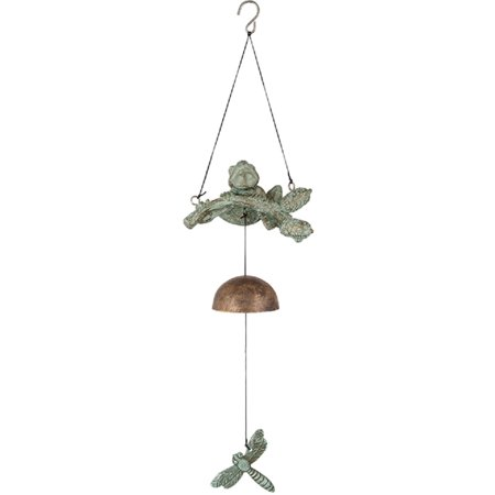 Dragonfly Wind Bell (Keynote Collection Frog and Dragonfly Aluminum Hanging Bell Wind Chime 17)