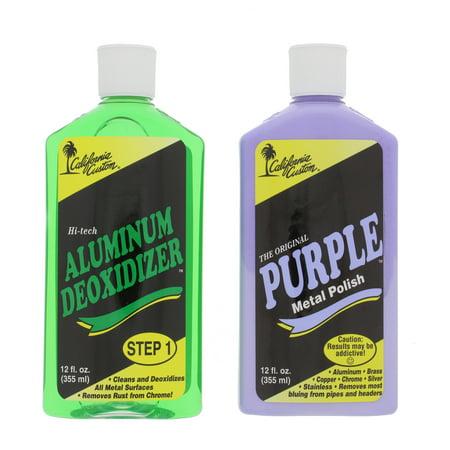 California Custom PMP12 Purple Metal Polish and AD12 Aluminum Deoxidizer Kit