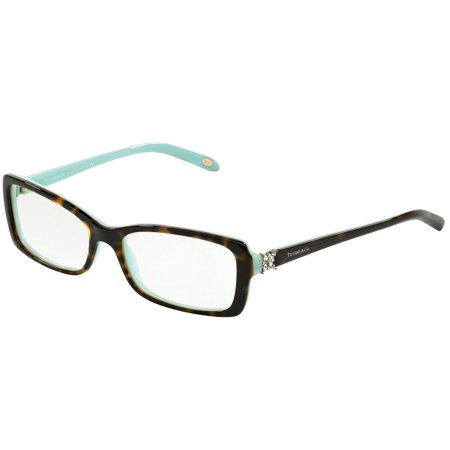 Tiffany Optical 0TF2091B Full Rim Rectangle Womens Eyeglasses - Size 53 (Havana/Blue / Clear
