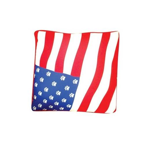 Rectangular American Flag Dog Bed (Small)