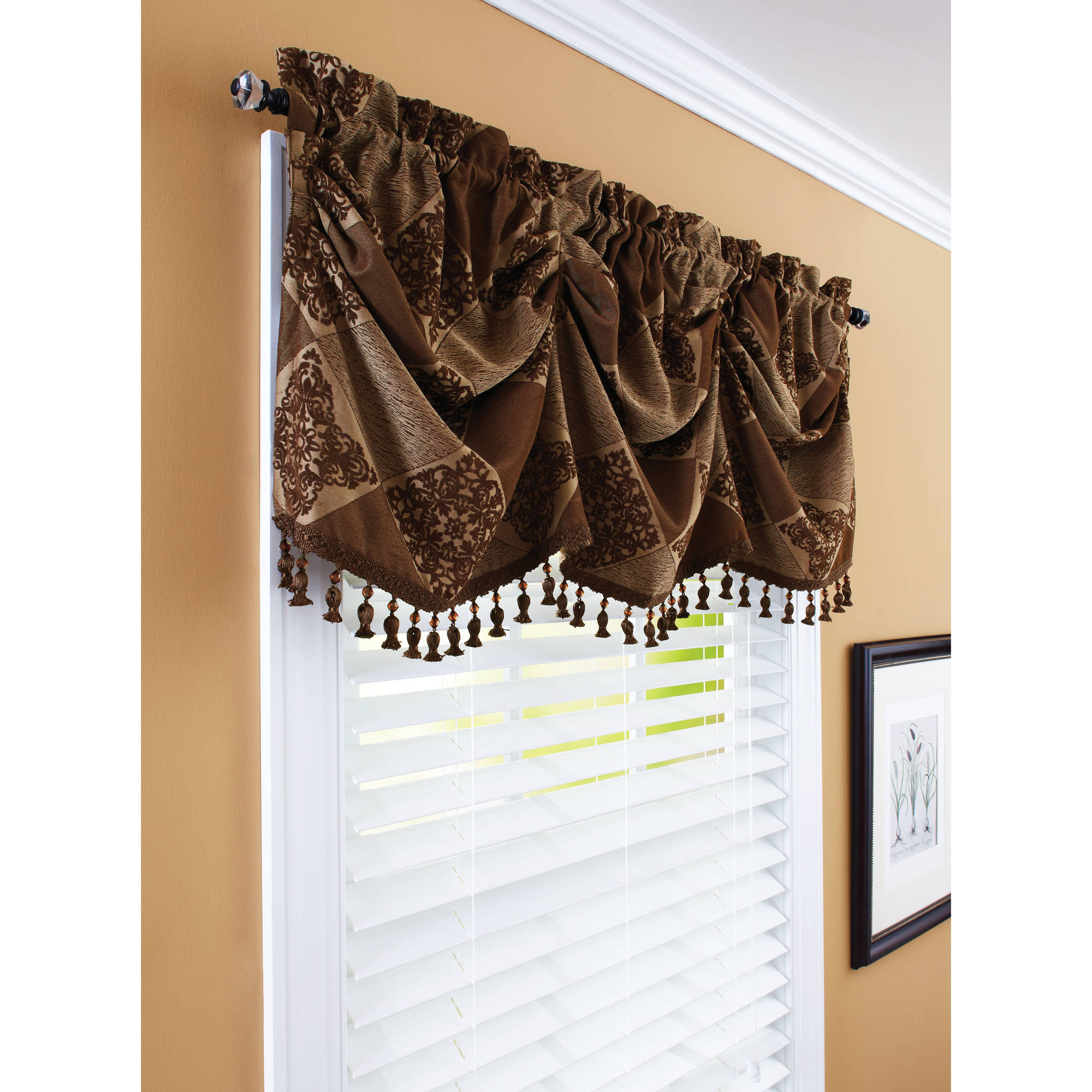 "Better Homes and Gardens 52"" Boucle Curtain Valance"
