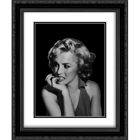 The Thinker - Marilyn Monroe 2x Matted 20x24 Black Ornate Framed Art Print by Michael, Jerry