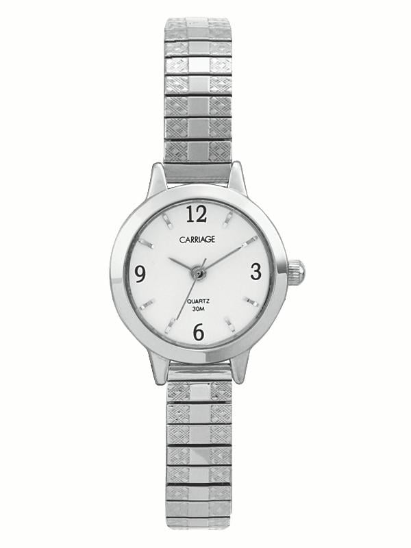 Carriage by Timex Women's Corinne Watch, Silver-Tone Stainless Steel Expansion Band by Timex